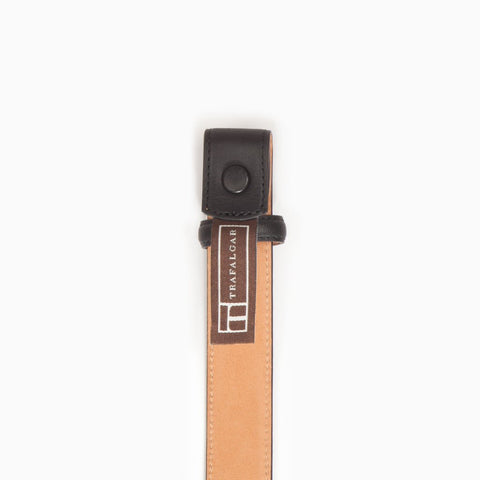 Cortina Leather, 1 Inch Belt Strap, Black-Belt Strap-Sterling-and-Burke