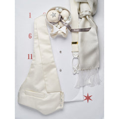 Budd Faille Silk Waistcoat in White-Waistcoat-Sterling-and-Burke
