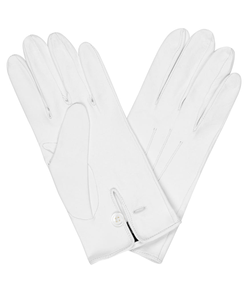 Budd Plain Leather Gloves in White-Gloves-Sterling-and-Burke