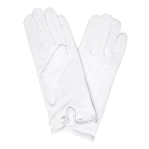 Budd Plain Cotton Gloves in White-Gloves-Sterling-and-Burke