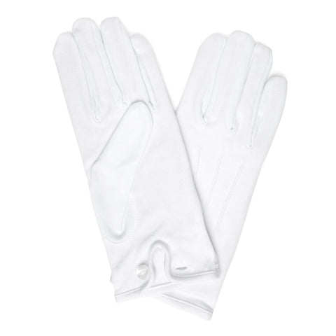 Budd Plain Cotton Gloves in White