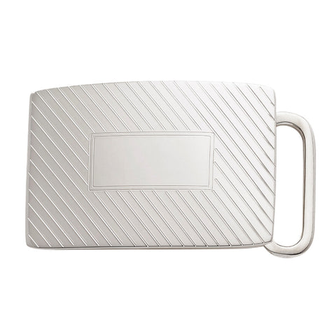 Belt Buckle | Ribbed Pattern Sterling Silver Buckle | Available for 1 Inch Belt Straps | Made in USA