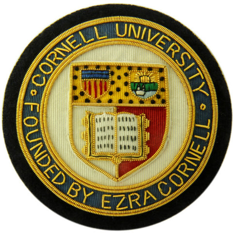 Cornell University Blazer Badge-Blazer Badge-Sterling-and-Burke