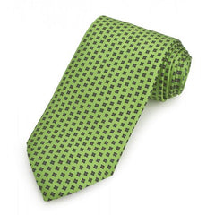 Printed Silk Twill Tie, Green | Silk Tie | Benson and Clegg | Made in England-Necktie-Sterling-and-Burke
