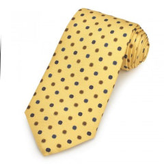 Printed Silk Twill Tie | Yellow Flower Design | Benson and Clegg | London-Necktie-Sterling-and-Burke