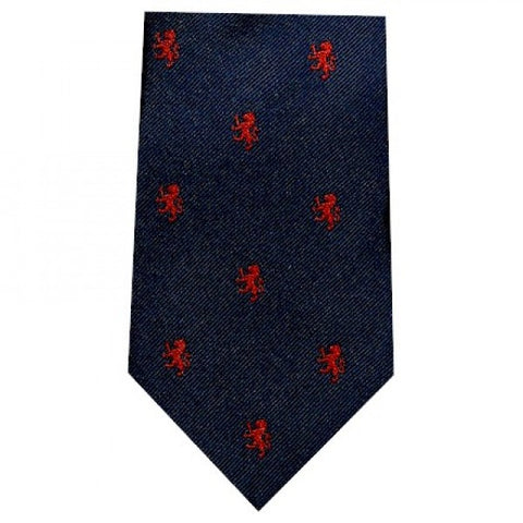 Rampant Lion, Navy with Red | Silk Tie | Benson and Clegg | Made in England-Necktie-Sterling-and-Burke