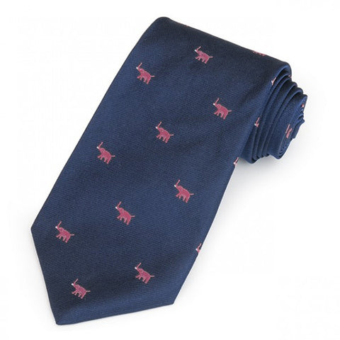 Republican Elephant, Navy and Pink | Silk Tie | Benson and Clegg | Made in England-Necktie-Sterling-and-Burke