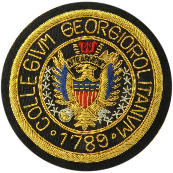 Georgetown University | GU Crest | Gold Thread Blazer Badge | Made in England-Blazer Badge-Sterling-and-Burke