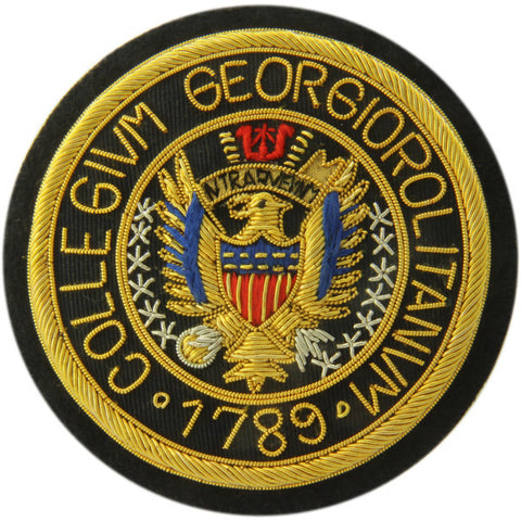 Georgetown University | GU Crest | Gold Thread Blazer Badge | Made in England | Sterling and Burke
