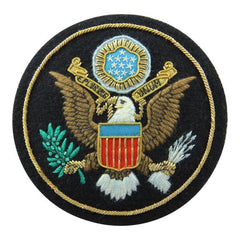 The USA Great Seal Blazer Badge | Made in England | Patriotic American Federal Eagle Badge-Blazer Badge-Sterling-and-Burke