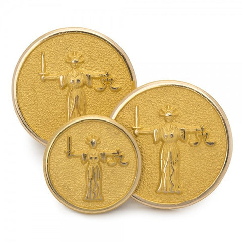 Lady Justice Single Blazer Button Set | Made in England | Sterling and Burke