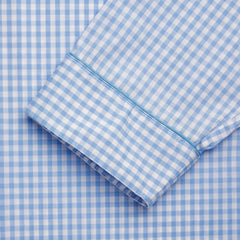 Budd Sleepwear | Batiste Check Nightshirt | Sky Blue | Budd Shirtmakers | Made in England-Nightshirt-Sterling-and-Burke