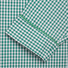 Budd Sleepwear | Batiste Check Nightshirt | Green | Budd Shirtmakers | Made in England-Nightshirt-Sterling-and-Burke