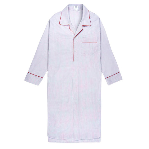 Budd Sleepwear | The 30th Anniversary Nightshirt | Royal Blue and Red | Budd Shirtmakers | Made in England