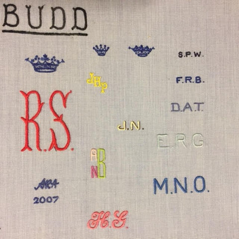 Monogram Initials Hand Embroidered By Budd Shirtmakers London