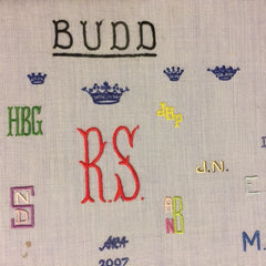 Monogram Initials | Hand Embroidered | by Budd Shirtmakers, London-Hand Embroidered Monogram-Sterling-and-Burke