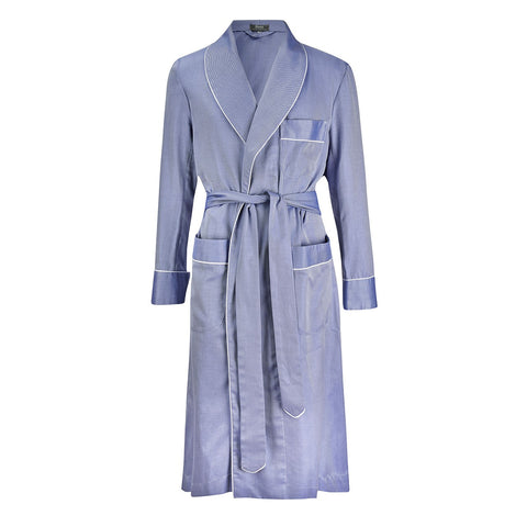 Budd Sleepwear | Fine Twill Dressing Gown | Navy | Budd Shirtmakers | Made in England