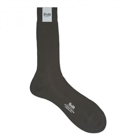 Budd Cotton Short Socks in New Charcoal / Dark Grey