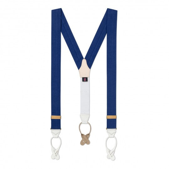 Linen Braces | Suspenders | Budd Shirtmakers | Made in England-Braces / Suspenders-Sterling-and-Burke