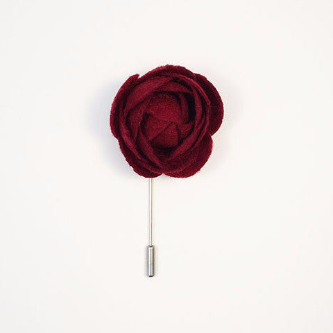 Large Felt Flower Lapel Pin