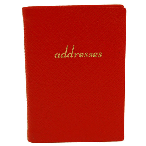 Address Book | Cross Grain Leather | Made in England | 3 by 2.5 Inch | Charing Cross Ltd
