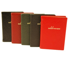 Address Book | Cross Grain Leather | Made in England | 3 by 2.5 Inch | Charing Cross Ltd-Address Book-Sterling-and-Burke