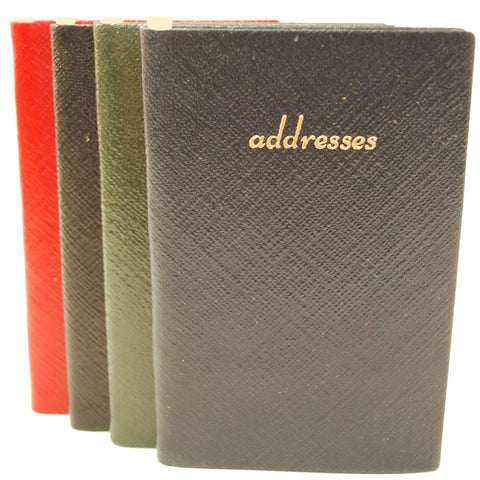 Address Book with Pencil, Leather 5 by 3 Inch