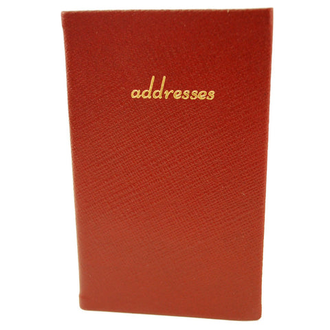 Address Book, Leather 5 by 3 Inch