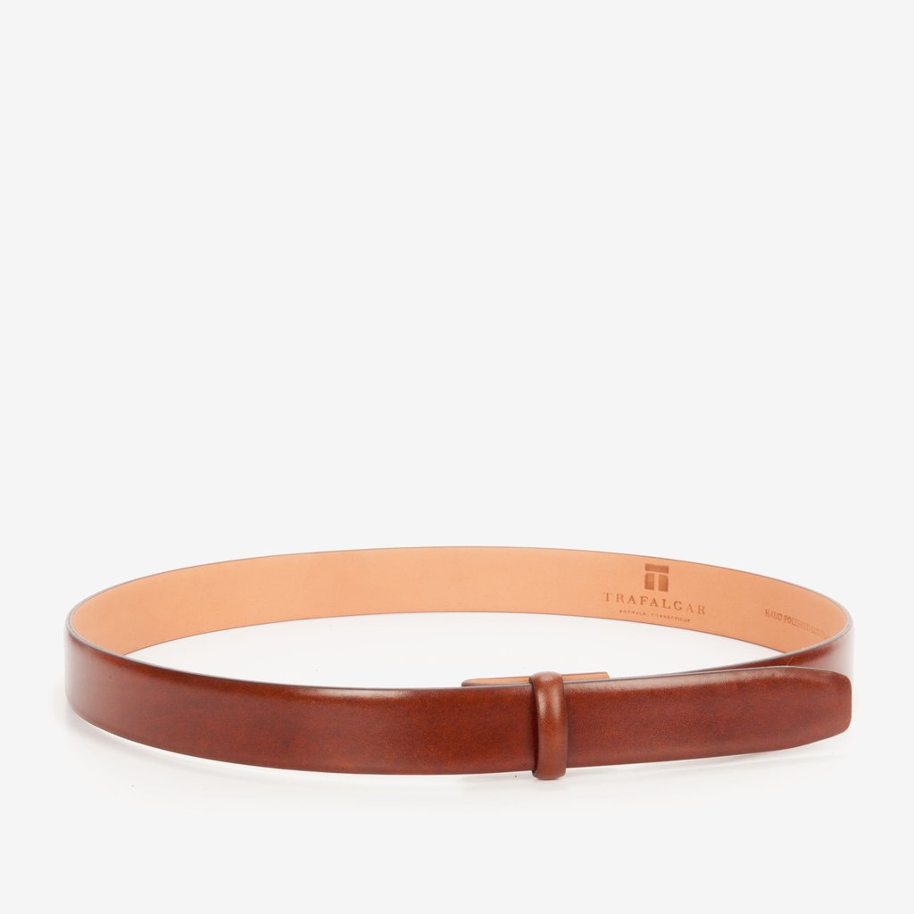 Cortina Leather, 1 3/16 Inch Belt Strap, Honey Maple-Belt Strap-Sterling-and-Burke