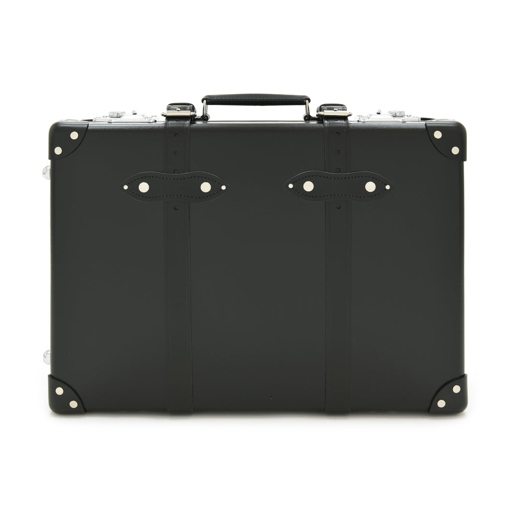 "Globe-Trotter Centenary 20"" Trolley Suitcase in Black-Suitcase-Sterling-and-Burke"