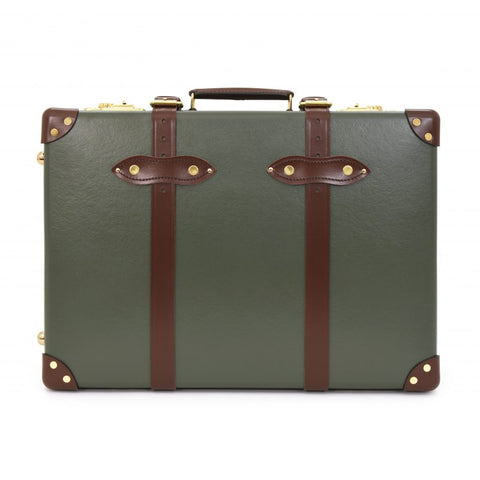 "Globe-Trotter Centenary 20"" Trolley Suitcase in Green"