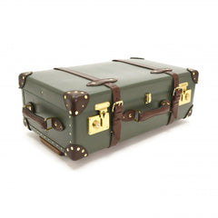 "Globe-Trotter Centenary 26"" Trolley Suitcase in Green-Suitcase-Sterling-and-Burke"