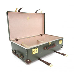"Globe-Trotter Centenary 30"" Suitcase With Wheels in Green-Suitcase-Sterling-and-Burke"