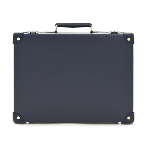 "Globe-Trotter Centenary 16"" Slim Attache Case in Navy"