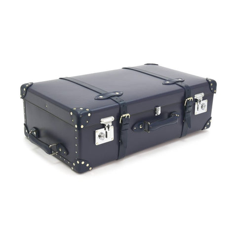 "Globe-Trotter Centenary 33"" Suitcase With Wheels in Navy-Suitcase-Sterling-and-Burke"