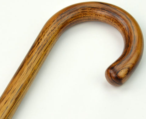 Luxury Wood Cane | Polished Hickory Walking Stick Cane | Crook Handle | Finest Quality | Made in England