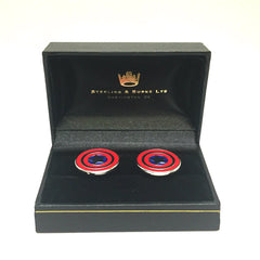 Captain America Cufflinks-Cufflinks-Sterling-and-Burke