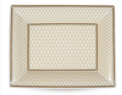 Fine English Bone China | Trinket Tray | Antler Trellis | Ivory | Halcyon Days | Made in England-Trinket Tray-Sterling-and-Burke