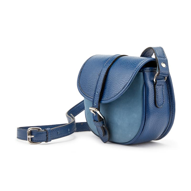 Tusting Cardington Medium Leather Handbag in Royal and French Navy-Handbag-Sterling-and-Burke