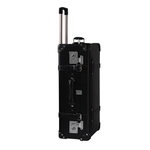"Globe-Trotter Centenary 26"" Trolley Suitcase in Black-Suitcase-Sterling-and-Burke"