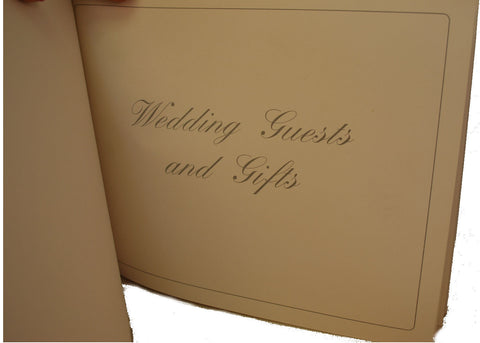Wedding Guest Book | Wedding Gift Book | White Leather with Padding | 7 by 9 Inches | Charing Cross-Guest Book-Sterling-and-Burke