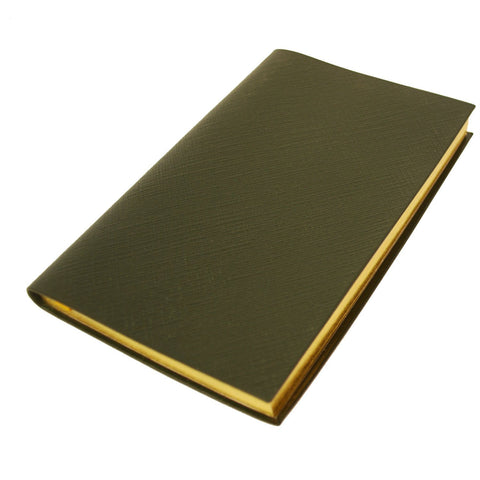 Crossgrain Leather Notebook, 7 by 4 Inches with Lined Pages