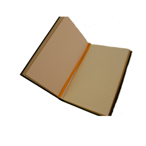 "Crossgrain Leather Notebook, 8x6, ""Journal""-Titled Notebooks-Sterling-and-Burke"