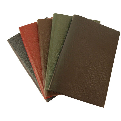 "Crossgrain Leather Notebook, 7x4, ""Shopping Notes"", Blank Pages-Titled Notebooks-Sterling-and-Burke"