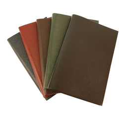 "Crossgrain Leather Notebook, 7x4, ""Restaurant Diary""-Titled Notebooks-Sterling-and-Burke"