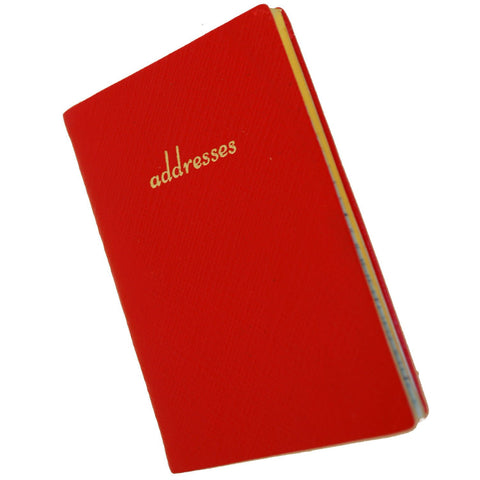 Address Book with Pencil, Leather 4 by 2.5 Inch