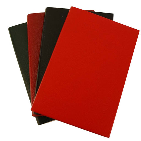 Address Book | Leather Bound | Hand Made in England | 7 by 5 Inches | Red, Green, Black, Burgundy Leather | Charing Cross Ltd