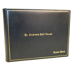 Guest Book Register | 7 by 9 Inches | Name, Date, Address | Made in England | Charing Cross-Guest Book-Sterling-and-Burke