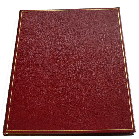 Leather Notebook, 8x10 Inches | Lined Pages | Multiple Colors | Buffalo Calf | Charing Cross