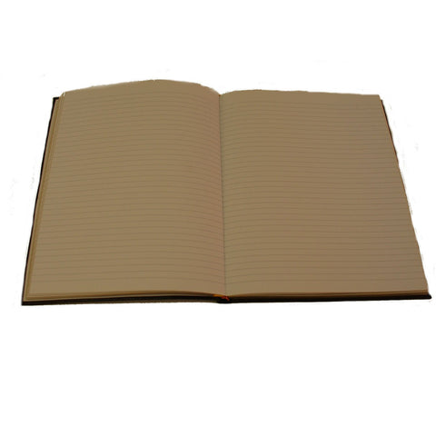 Crossgrain Leather Notebook, 8 by 10 Inches, Lined Pages-Notebooks-Sterling-and-Burke